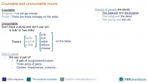 EFL - ESL Lead-in activity for countable and uncountable | Elementary