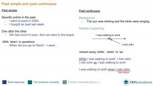 EFL - ESL Lead-in activity for past simple and past continuous | Elementary